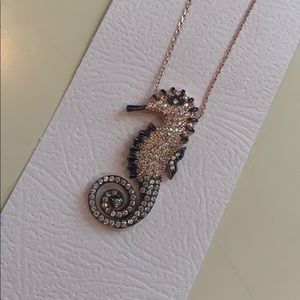 Rose gold plated Seahorse necklace